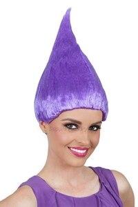 Image 5 - Peluca de Trolls para niños y adultos disfraz de naranja suministros de fiesta para Cosplay, fiesta, Cosplay, 8 colores, rosa, verde, morado, 10 Uds.