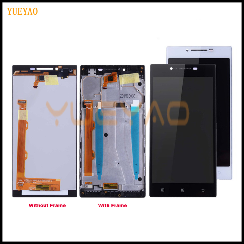 YUEYAO 5.0 LCD Screen For LENOVO P70 LCD Display Touch Screen Digitizer Replacement Parts P70 A P70-A P70A LCD With FrameYUEYAO 5.0 LCD Screen For LENOVO P70 LCD Display Touch Screen Digitizer Replacement Parts P70 A P70-A P70A LCD With Frame