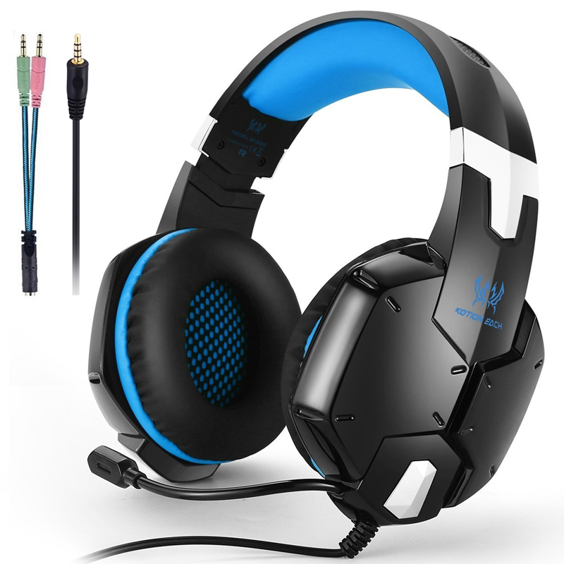 Gaming Headset PS4 Earphone Computer Headphone With Microphone Headphone For Computer With Mic Gamer Headset Splitter 215mm mvpower 3 5mm stereo headphone wired gaming headset with mic microphone earphones for sony ps4 computer smartphone hifi earphone