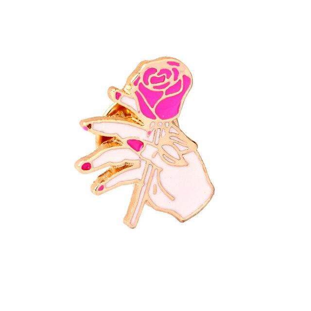 Gest kolekcji! Język migowy OK OK YEAH czerwone paznokcie serce ręka palec emalia odznaki broszki szpilki moda damska broszka