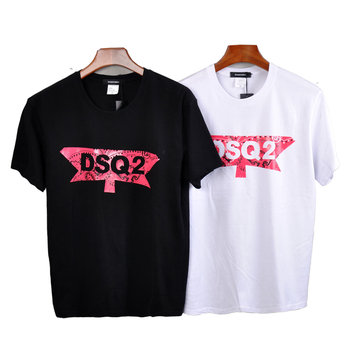 DSQICOND2 Summer DSQ2 Letter Casual T-shirts Printed Tops Men Cotton Short Sleeve Tees With Mesh Baseball Caps Snapback Dad Hats