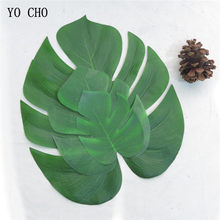 YO CHO 12 pz/lotto Piante Artificiali Monstera Deliciosa Tartaruga Foglia Per La Cerimonia Nuziale Agriturismo Giardino Decor FAI DA TE Bar Paty Decoracion(China)