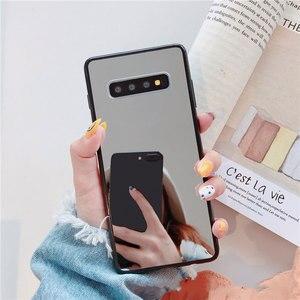 Image 5 - Sang Trọng Bling Gương Trang Điểm Ốp Lưng Điện Thoại Samsung S8 S9 S10 Plus S7 Edge A5 2017 J6 Plus A50 A70 NOTE 9 Chống Sốc TPU Cover