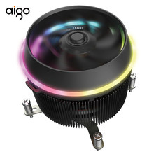 Aigo Bayangan Pro CPU RGB Cooler 4 Pin RGB LED PC CPU Fan Pendingin Radiator Aluminium Tembaga Heatsink Master Ram dingin Pipa(China)