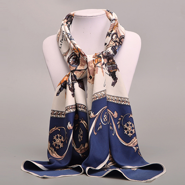 Large Silk Scarf Horse Carriage | Lightweight Scarves | Up to 60% Off Now