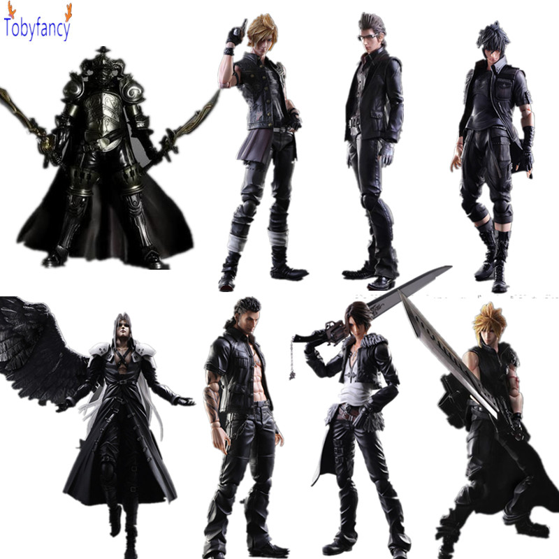 Final Fantasy Play Arts Kai 250mm Cloud Sephiroth Squall PVC Action Figure Anime Toys Collection Model Figurine Play Arts Kai xv vii ff15 sephiroth ffxv final fantasy pa claude knight argentum play arts kai cloud strife collection model pvc 25cm figures