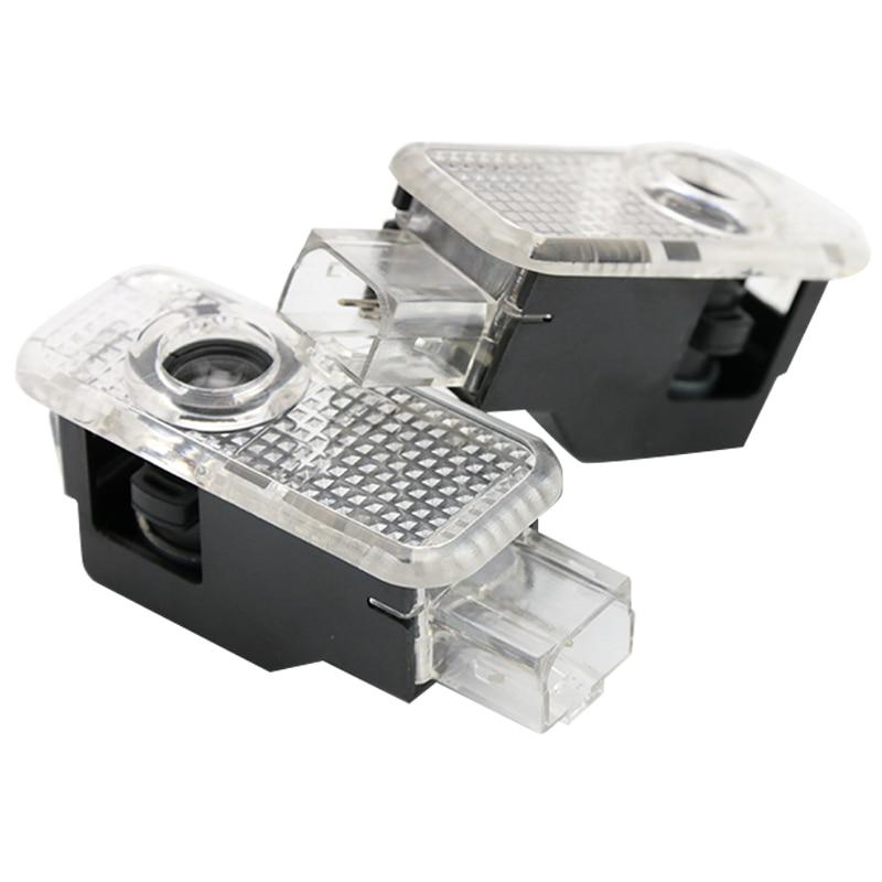 KAHANE 2x Led Car Door Light S4 Logo Car Laser Projector Ghost Light FOR Audi A3 A4 A5 A6 A8 S3 S4 S5 S6 S7 Sline Quattro B4 B5