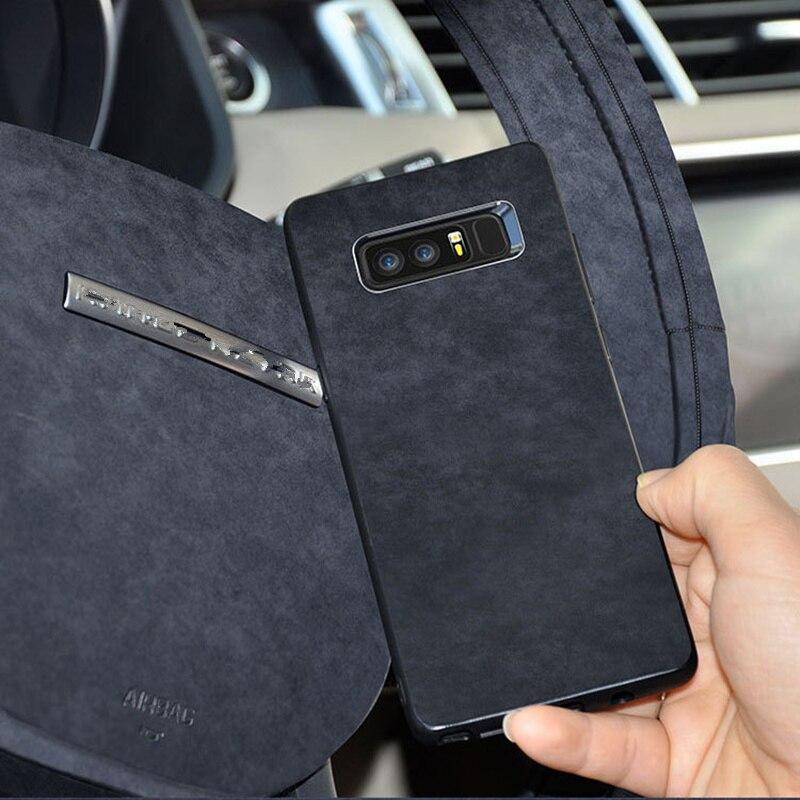 Original italiano gamuza como tela de cuero cubierta de carcasa del teléfono Shell para Samsung Galaxy S8 S9 S10 Plus nota 8 9