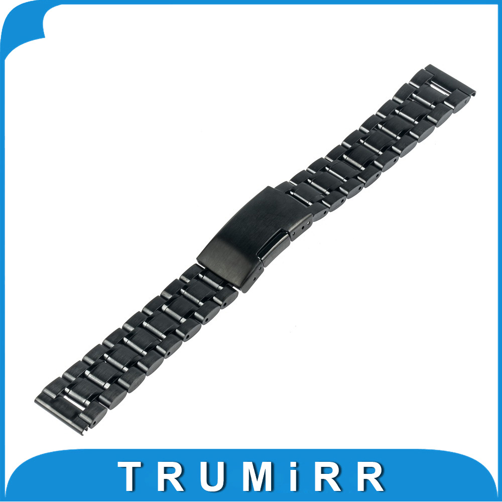 20mm Stainless Steel Watchband for Pebble Time Round 20mm Bradley Timepiece Smart Watch Band Metal Strap Bracelet Black Silver elastic watch band 20mm 22mm for pebble 1 1st gen pebble time round 20mm pebble time stainless steel strap link belt bracelet
