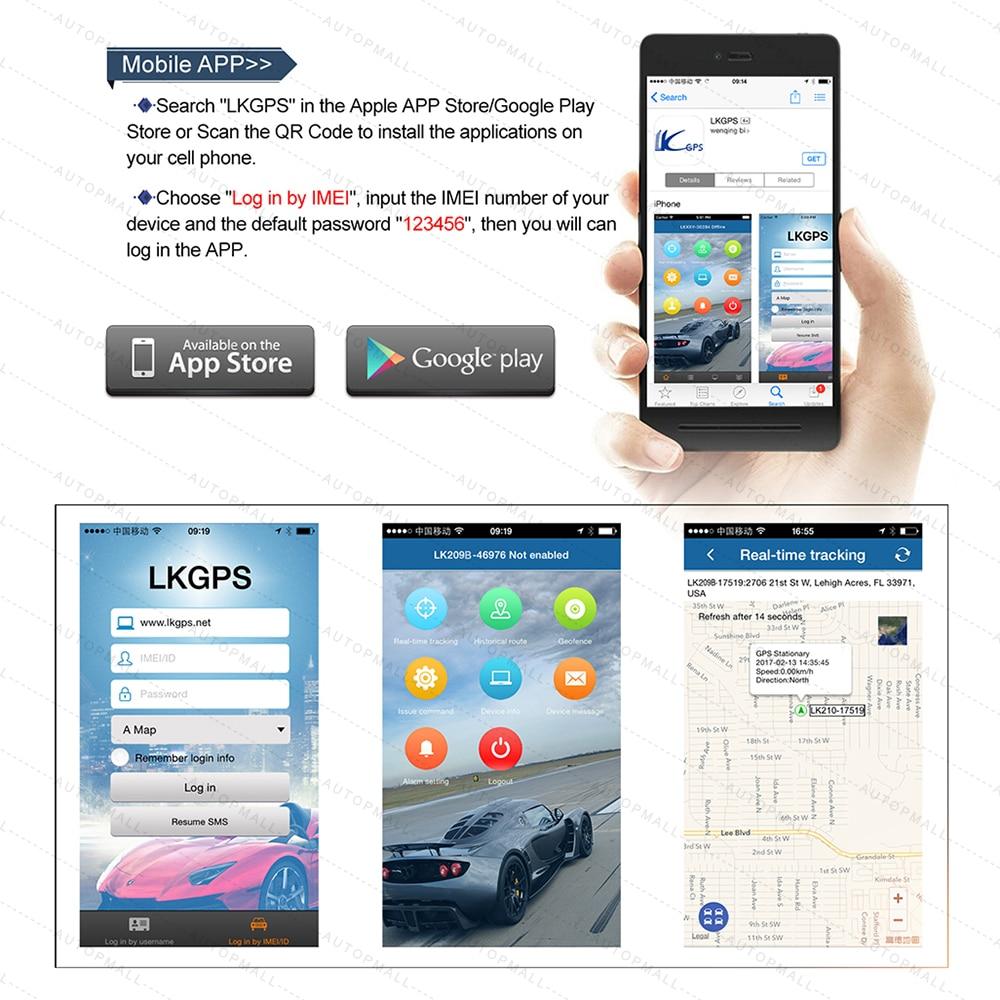 Traqueur de voiture GPS LK209B dispositif de suivi de véhicule localisateur GPS traqueur GSM GPRS 120 jours en veille puissant aimant étanche - 5