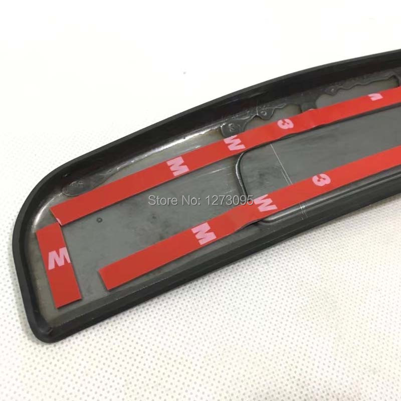 For Toyota Camry 2018 Stainless Red Car Door Sills Scuff Plate Guard Pedal Cover