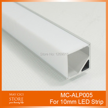 UnvarySam 0.5M Recessed Aluminum LED Channel Aluminium LED Lighting Profile triangle Using for Strip within 10mm Width