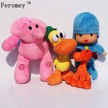 Pocoyo 4 unidades/lote de juguetes de peluche de España, película de dibujos animados, Pocoyo Elly Pato Loula, muñeco de felpa para bebé, juguetes para niños, regalo para niñas y niños