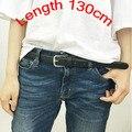 Женская мода длинный ремень брюки украшение ремень Краткое ремень черный ПУ пряжкой ремня сплошной цвет HARAJUKU PU пояс любителей