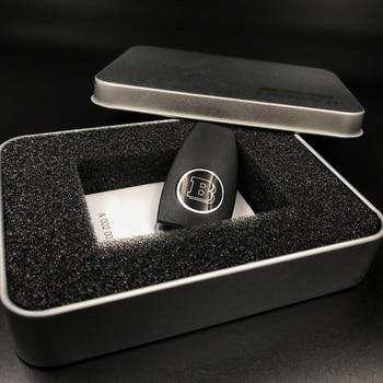 Auto Sleutel Shell Voor BRABUS Embleem Key Cover Voor Mercedes Benz AMG W204 W212 W218 W221 W166 W203 W212 W211 W124 Accessoires