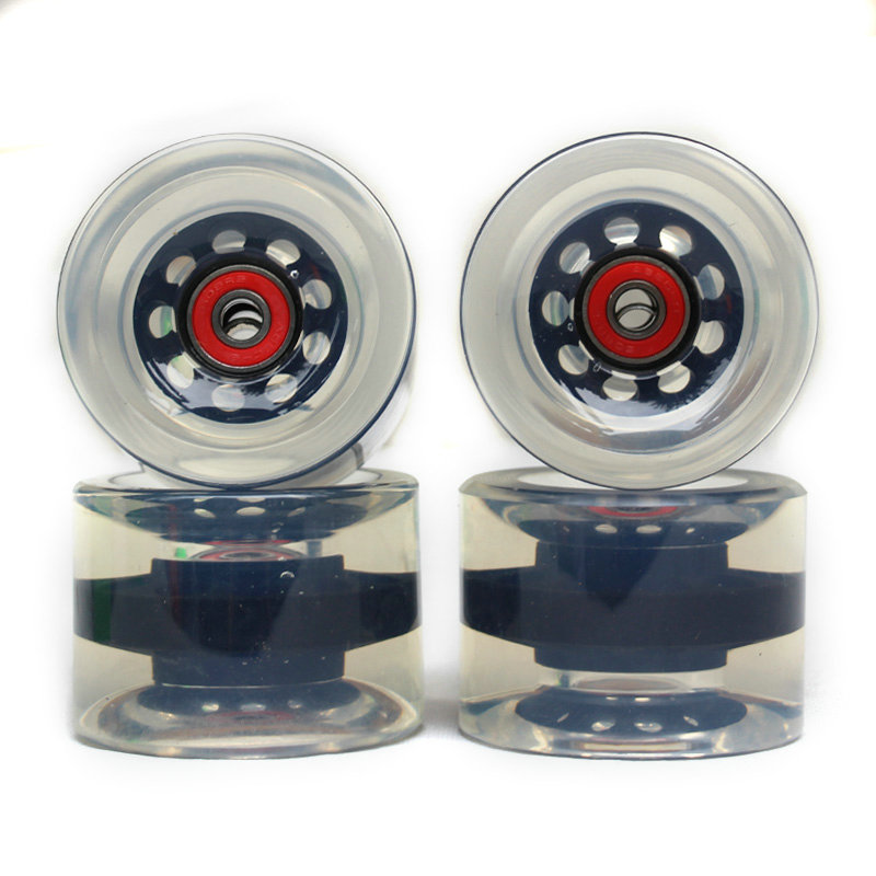 Soft Big Wheels Skateboard Longboard Wheels PU 70MM Durable Super Cruiser Wheels Road Longboard ABEC-9 Bearings