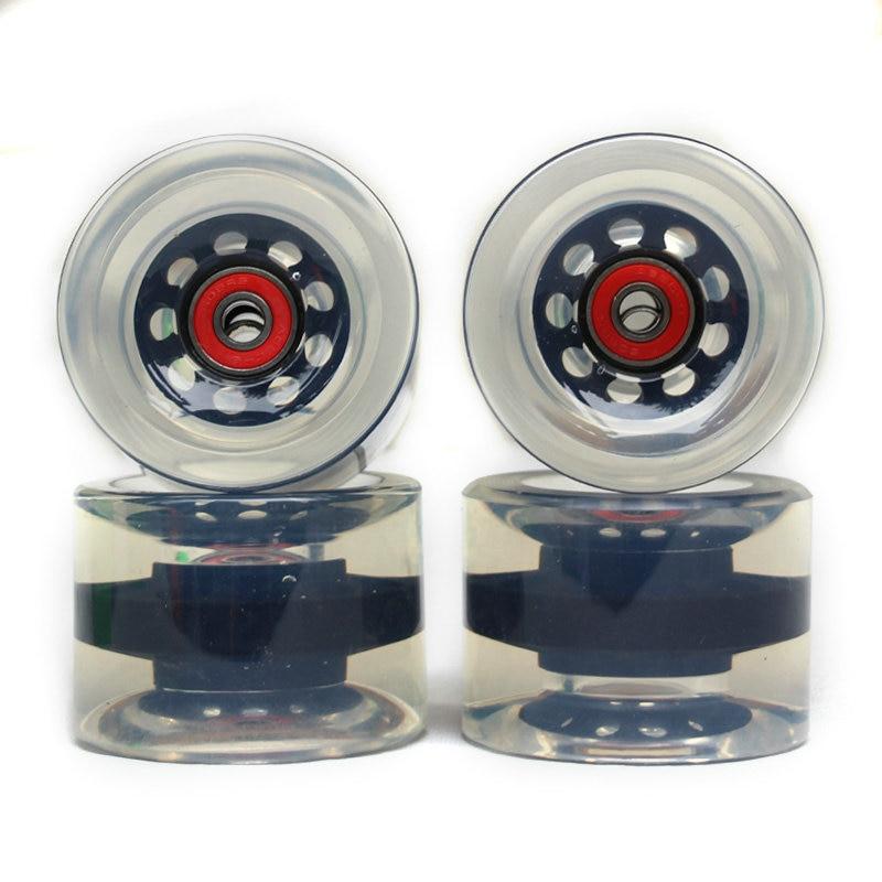 Soft Big Wheels Skateboard Longboard Wheels PU 70MM Durable Super Cruiser Wheels Road Longboard ABEC-9 Bearings