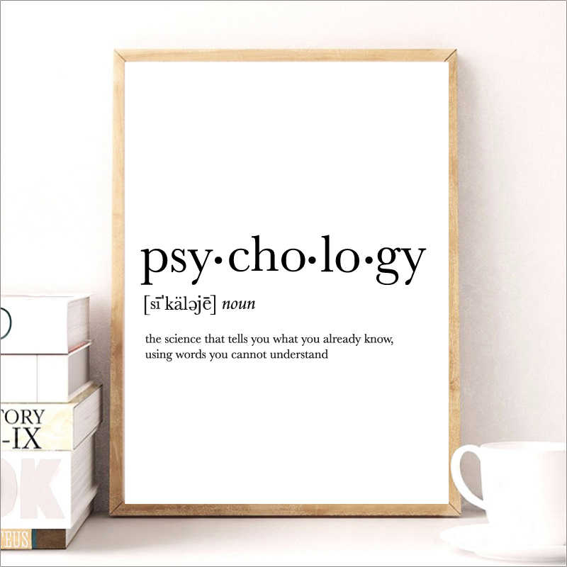Detail Feedback Questions about Psycholog Gifts Print Funny Definition Poster, Psychology Quote Canvas Painting College Dorm Room Wall Art Minimalist Poster ...