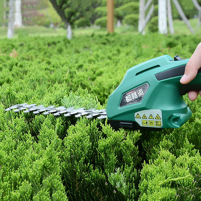 Tools : 2 in 1 Multi-Function Grass Shear Cordless Lithium-ion Rechargeable Shrub Shear Grass Trimmer Shears For Lawn Mower Garden Tools