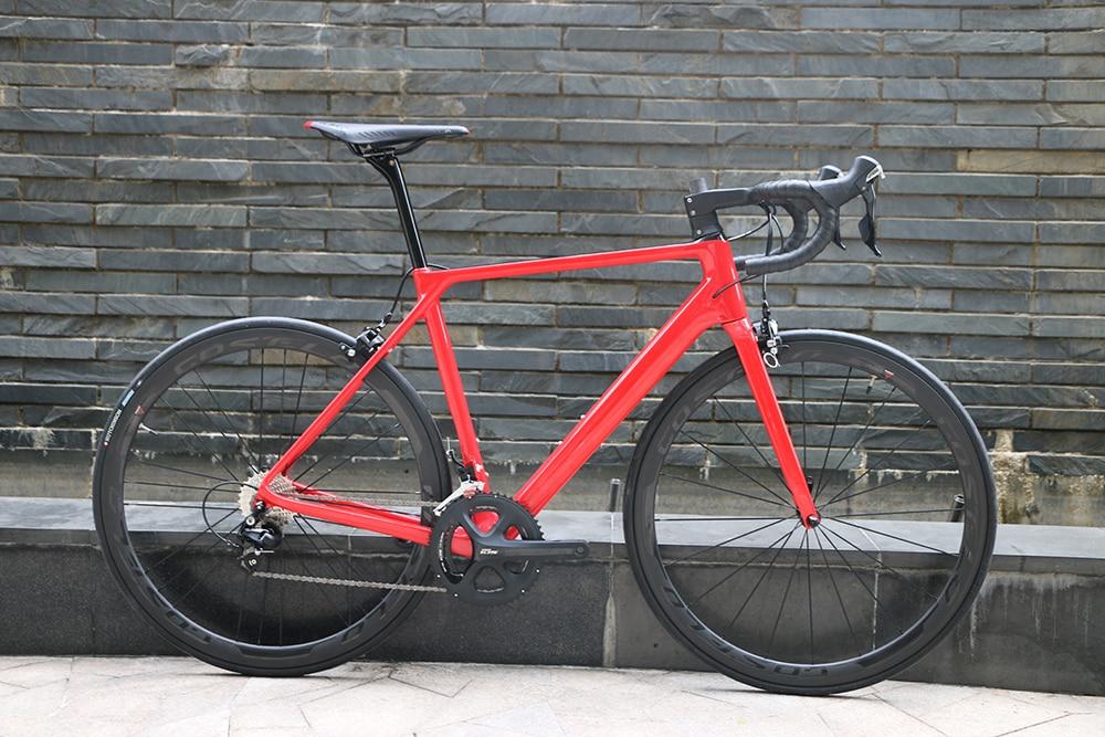 Nueva llegada SLX Carbon bicicleta de carretera bicicleta completa 38mm carbono remachador 3 K ruedas silla