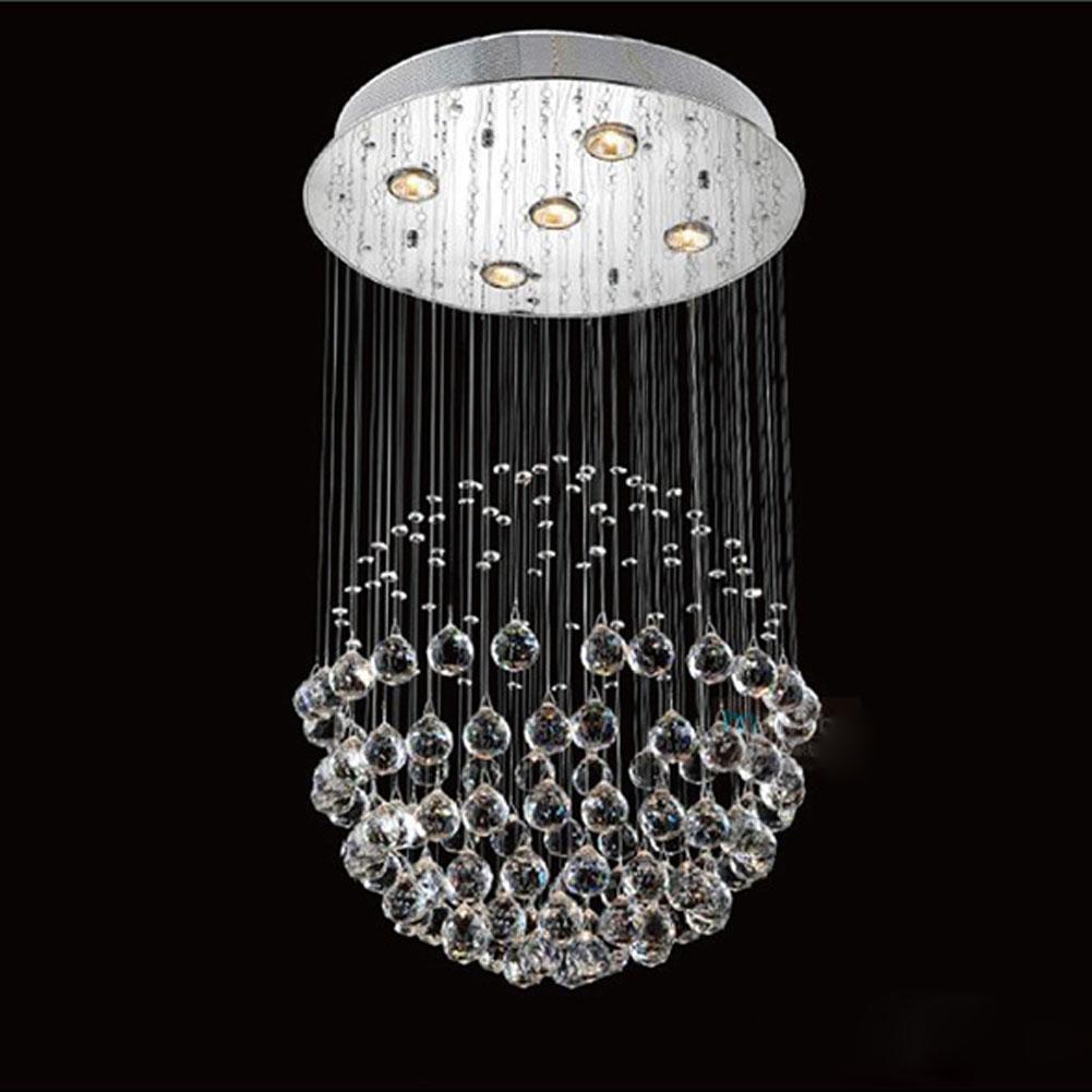 modern chandelier luxury k9 crystal ball round luminaire. Black Bedroom Furniture Sets. Home Design Ideas
