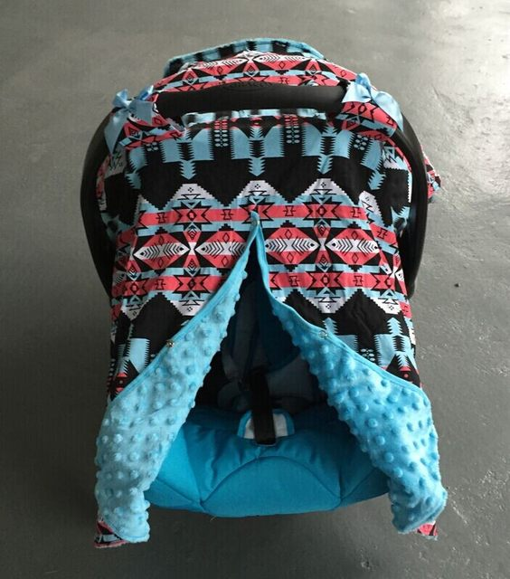 2016 New Free Shipping Baby Car Seat Canopy Cover Infant Children Aztec Carseat Canopies