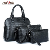 3 sets Women bag ladies Tote bag Good quality Alligator Purses and handbags +Shoulder Messenger Bag +Clutch wallet bolsos FN334