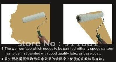 įvairių formų kempinės antspaudas sienų dažymui | 9 '' 230mm - Įrankių komplektai - Nuotrauka 2
