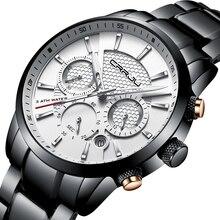d5869f1300bb Reloj de pulsera de acero inoxidable para hombre CRRJU hombre de lujo marca  única de cuarzo