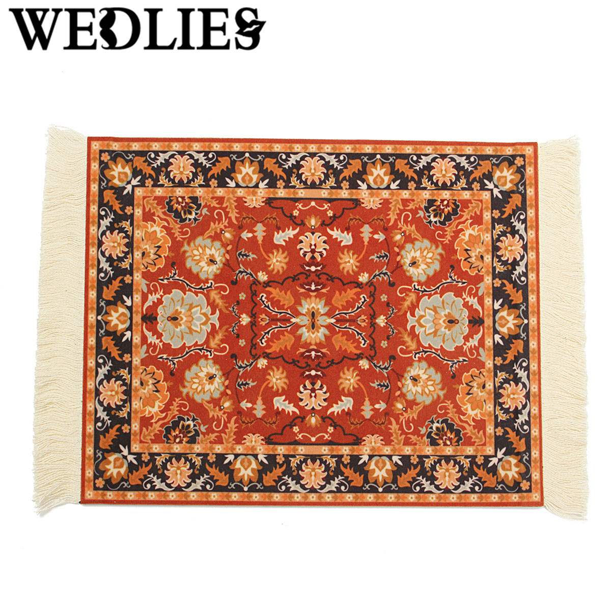 Cotton Persian Style Mousemat With Fringe Mini