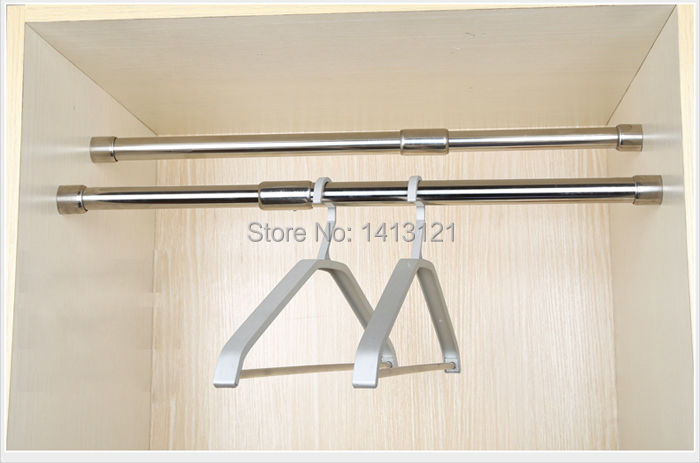 Finest Free shipping Wardrobe hang hanging rod / metal telescopic hanging  EL02