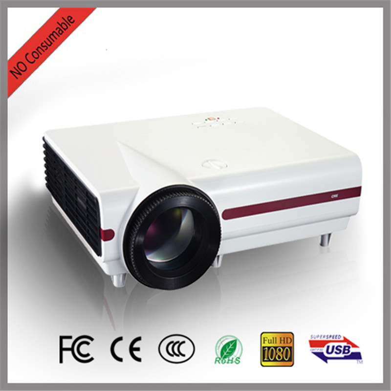 Free shipping Brightest 3500lumens Led 3D Digital video Projector Native Full HD support 1080P 720P home