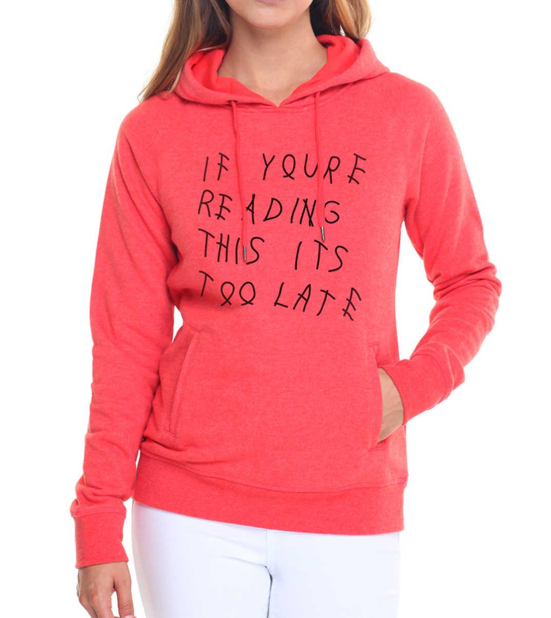 2019 Fashion Bulu Kebugaran Kaus Jika Anda Membaca Ini Terlambat Pullover Wanita Hipster Kpop Hoodies Merek Pakaian Latihan Yg Hangat