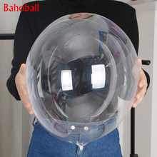 1pc 18/24 Inch No Wrinkle Bobo Transparent Clear Balloons Marriage Wedding Decoration Helium Inflatable Balls Gifts Favor Newest(China)