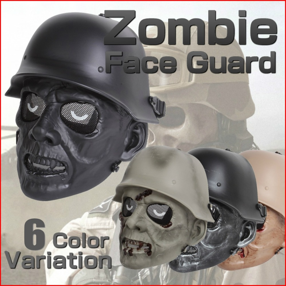Zombie Soldier Skull Military Army Tactical Full Face Mask Mesh Wargame Airsoft Paintball Cosplay Holloween Masks