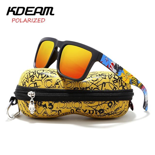 7ed3e008fe Gafas De Sol polarizadas para hombre Kdeam gafas De Sol cuadradas De marca  para mujer gafas