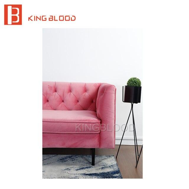 Online Shop modern wedding pink velvet fabric 3 seat couch living ...