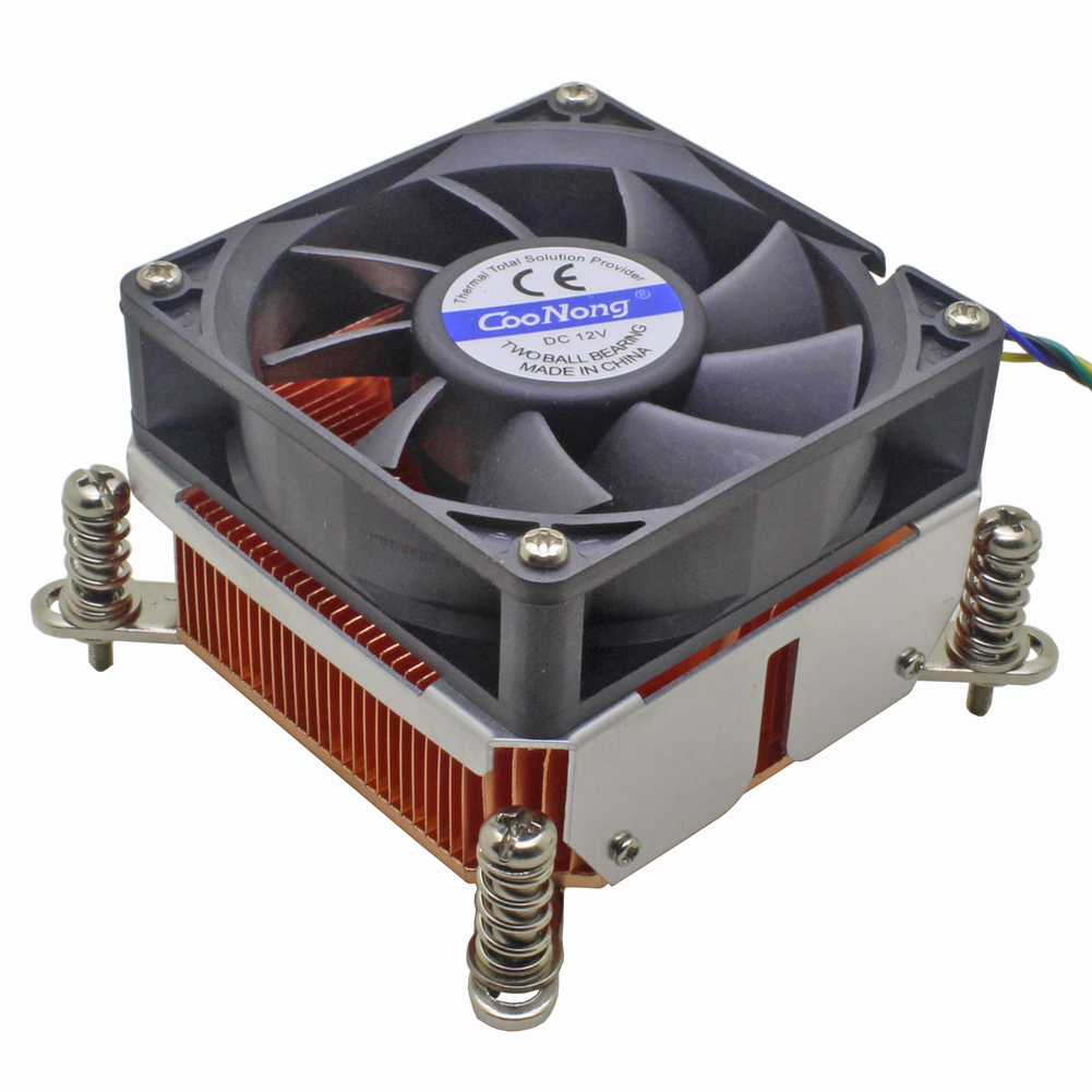 2U Server CPU Cooler Copper Heatsink Radiator For <font><b>Intel</b></font> Xeon LGA 1155 1156 1150 1151 Industrial workstation Computer Cooling image