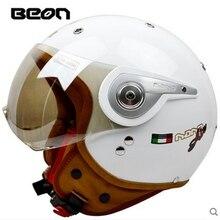 BEON Vintage helmet motorcycle motorbike motorcross helmet Capacete Casco open face 3/4 jet retro BRAND helmet Protective Gear