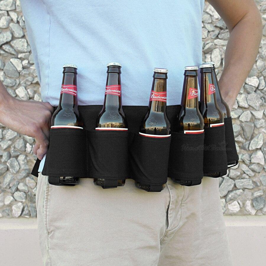 Portable 6 Pack Beer Soda Can Holster Drink Bag Party Holder Belt  UK