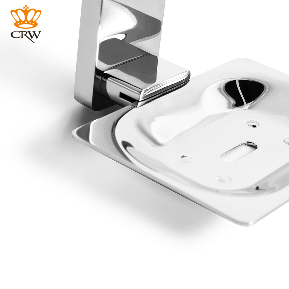 CRW Soap Dish Holder Wall Mount Classic Design Zinc Stainless Steel ...