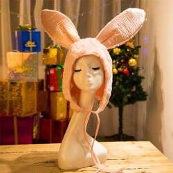 Кролик уха hat для детей милый кролик головные уборы для фотосессий Косплей Плюшевые игрушки hat Рождество Хэллоуин платье для дня рождения до