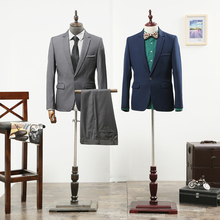Props male half body mannequin props men model clothes display fabric mannequin with wooden arms and shoes pants racks