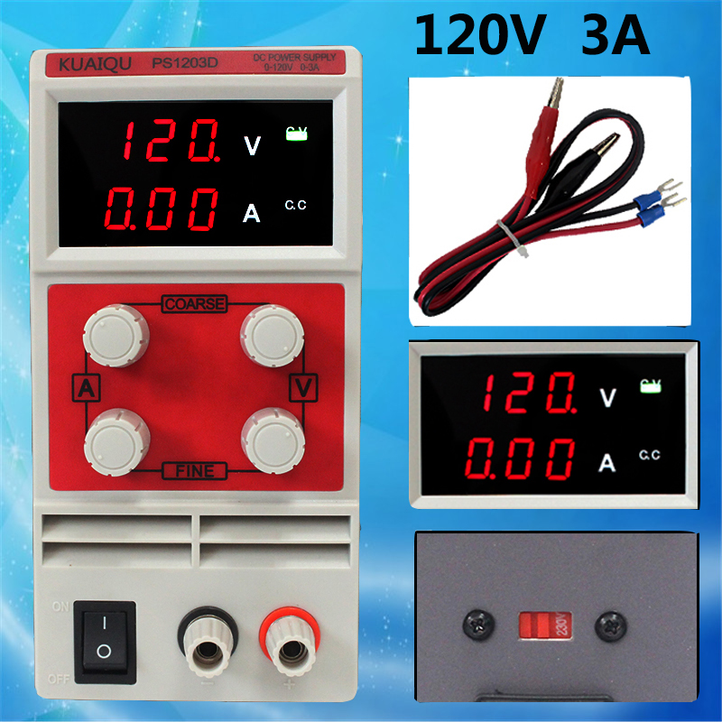 Adjustable laboratory three display DC Power Supply Single Channel 120V 3A Switch Power Supply Voltage Regulators fast arrival qj12003e dc adjustable regulator laboratory power supply 0 120v 0 3a transformer resolution of 100mv 1ma