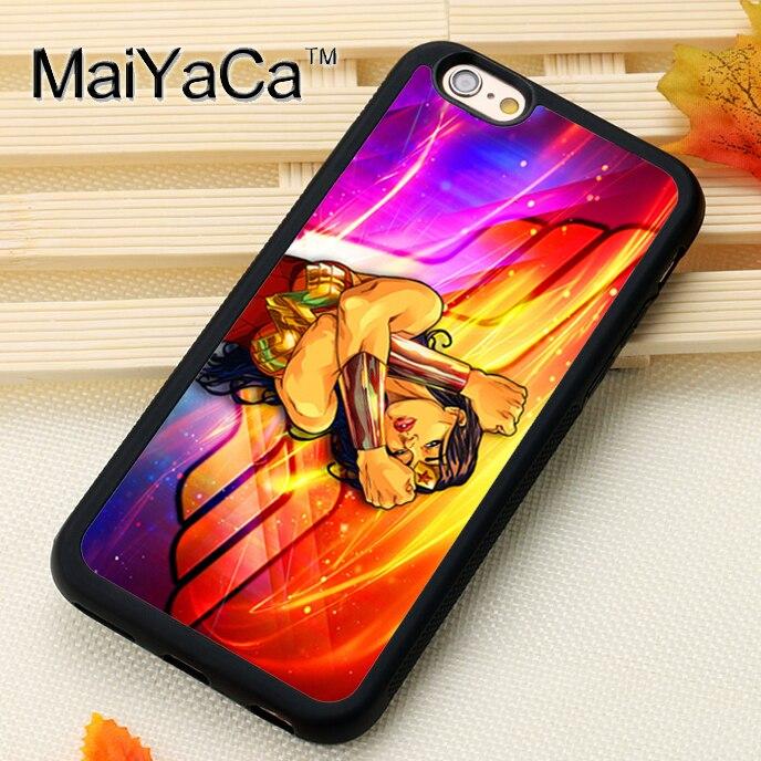 Maiyaca Wonder Woman для iPhone 6 6S Coque 360 полная защита ТПУ Мягкая задняя крышка для iPhone 6/6S телефонные чехлы