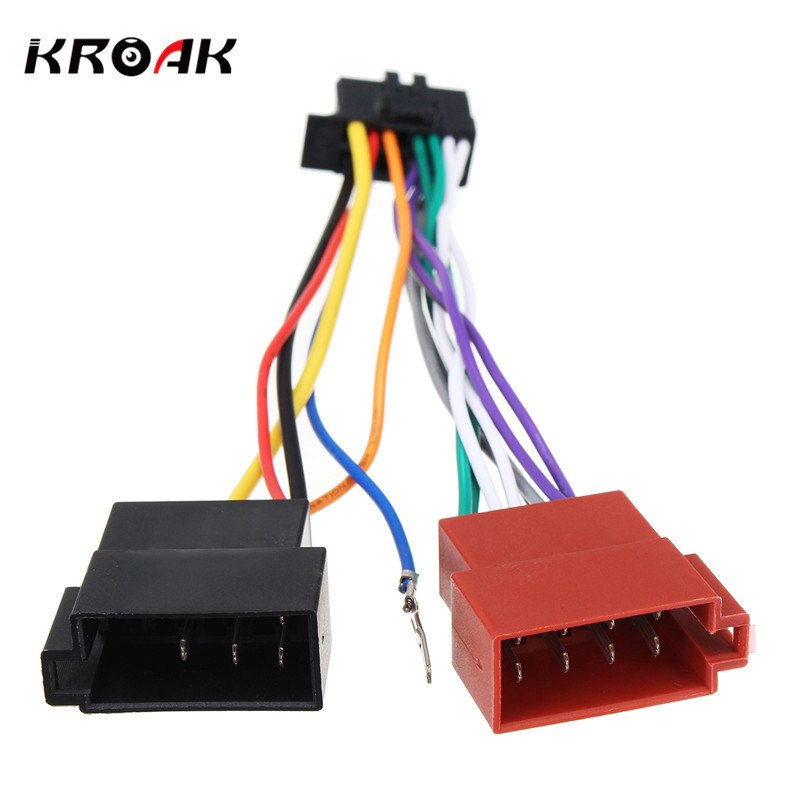 Kroak Car Stereo Radio Player Iso Wiring Harness Connector