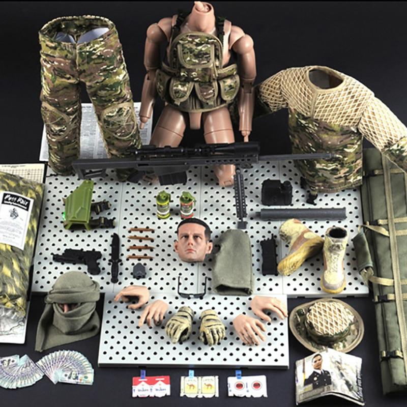 1/6 스케일 군사 액션 피규어 인형 유연한 12 인치 인형 정글 스나이퍼 군인 abs 모델 키즈 선물 완구 전체 공동 움직일 수있는-에서액션 & 장난감 숫자부터 완구 & 취미 의  그룹 1