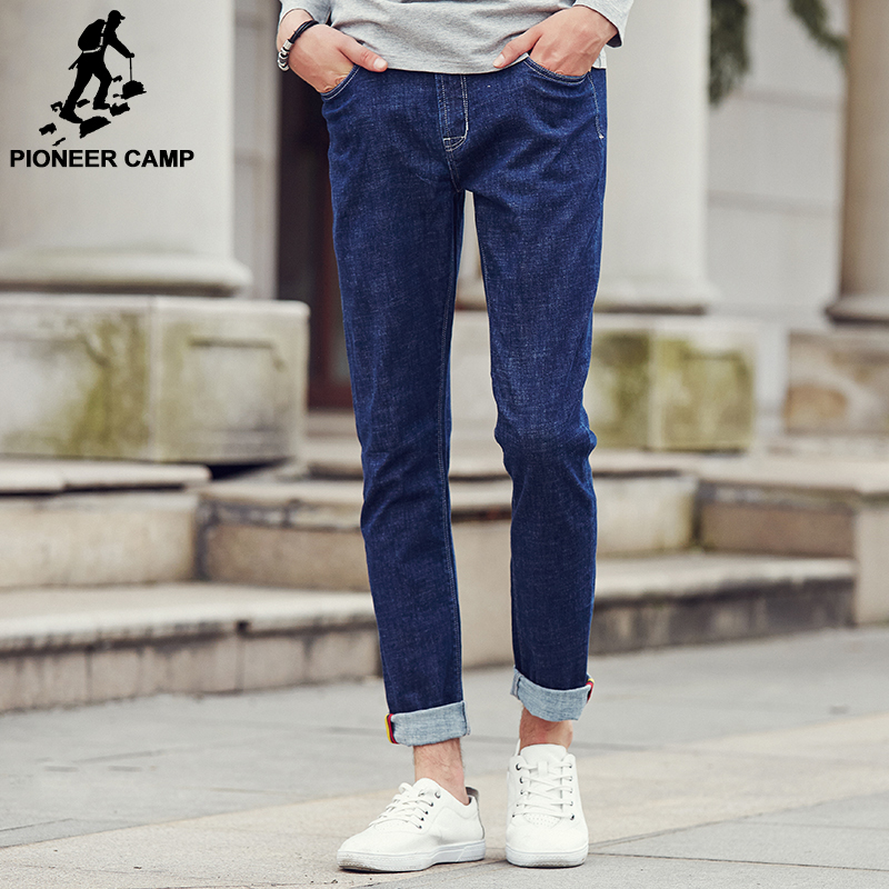 Pioneer Camp New arrival blue jeans men brand clothing high quality male denim trousers fashion casual denim men pants 611022 2017jeans men new arrival brand clothing blue slim fit casual stretch denim pants high quality plus size free shipping