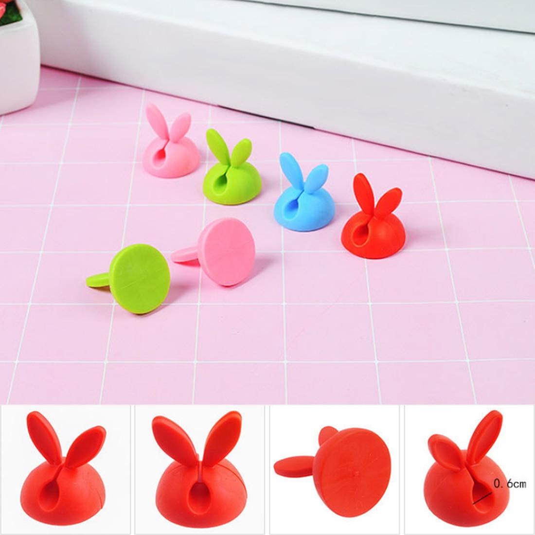 Cable-Organizer Headphone Rabbit-Ear Bobbin Wires-Holder Desktop-Winder 4pcs Computer