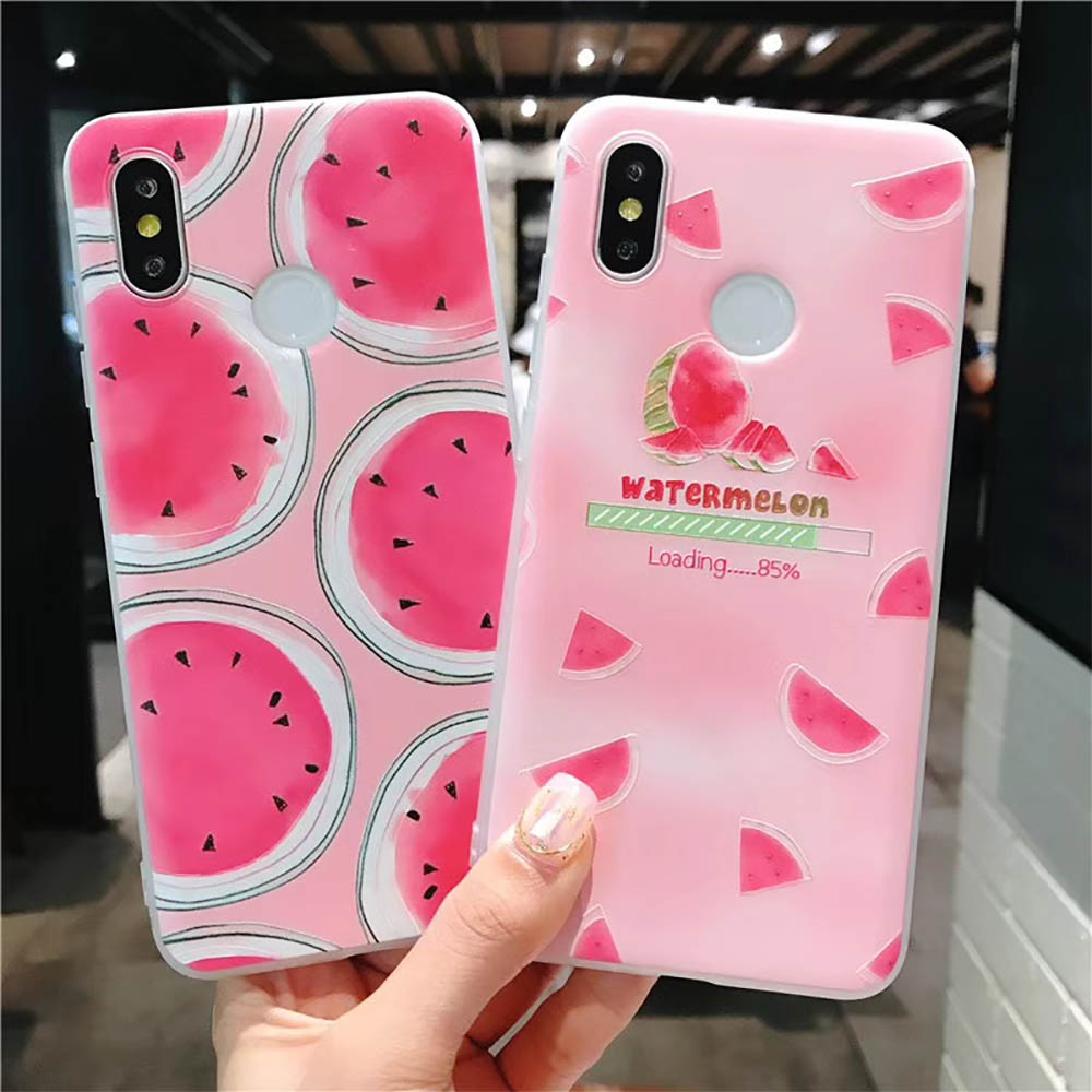 Fruit-Case Watermelon Silicone-Cover Xiaomi Mi A2 Note-5 for Redmi Pro 4X Soft TPU Full-Protect